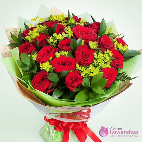 Send red rose bouquet to my loves