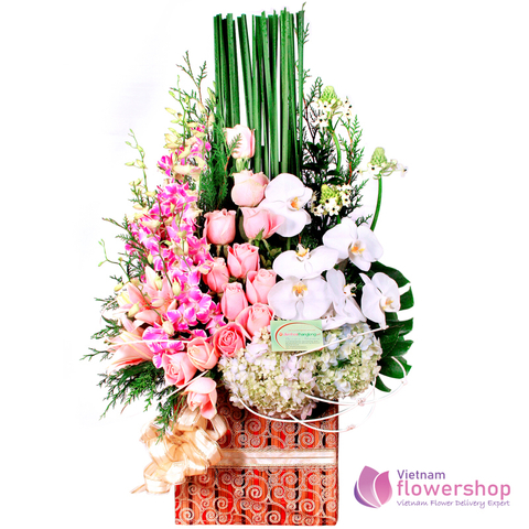 Flowers basket delivery free Ba Dinh District Hanoi