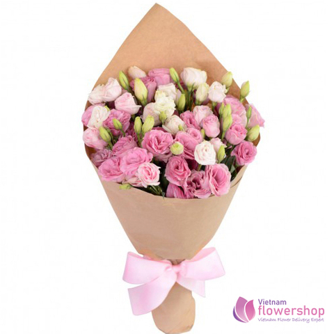 Pink lisianthus flowers order online