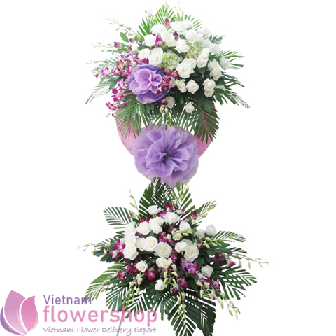 Sympathy flowers free delivery in Vietnam