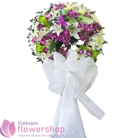 Hanoi funeral flowers arrangement