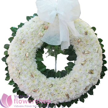 Vietnam funeral flowers in white same day delivery