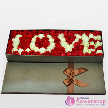 Love flowers box Vietnam