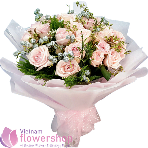 Vietnam pink bouquet free delivery