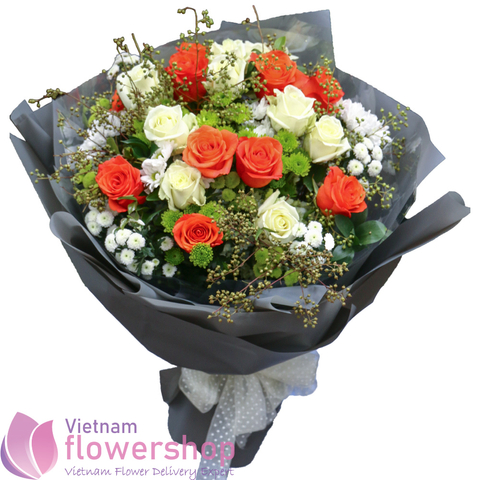 Beautiful roses bouquet for send to Vietnam