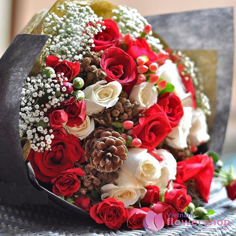 Vietnam Christmas bouquet delivery same day