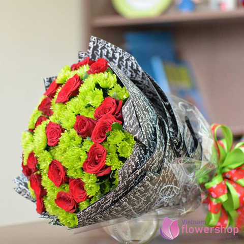 Vietnam Xmas flowers bouquet free delivery