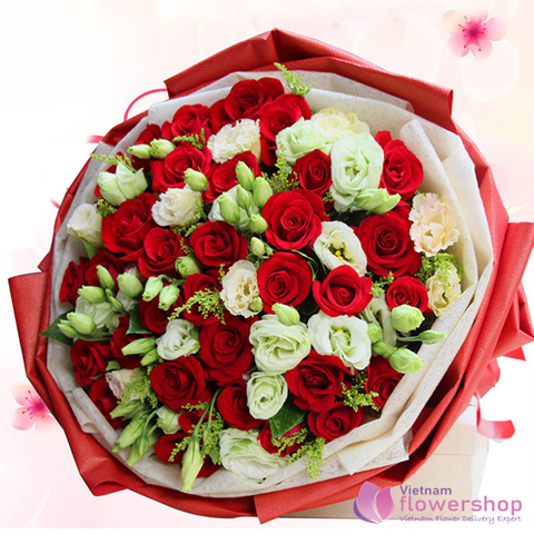 Send Christmas flower to Vietnam