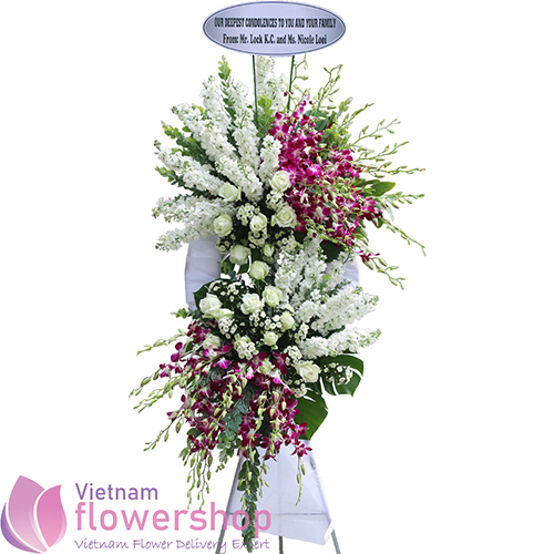 Send funeral flower arrangements to Vietnam