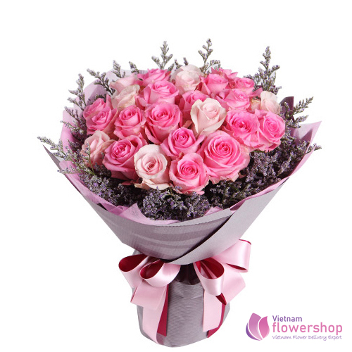 Bouquet Of Pink Roses Free Delivery