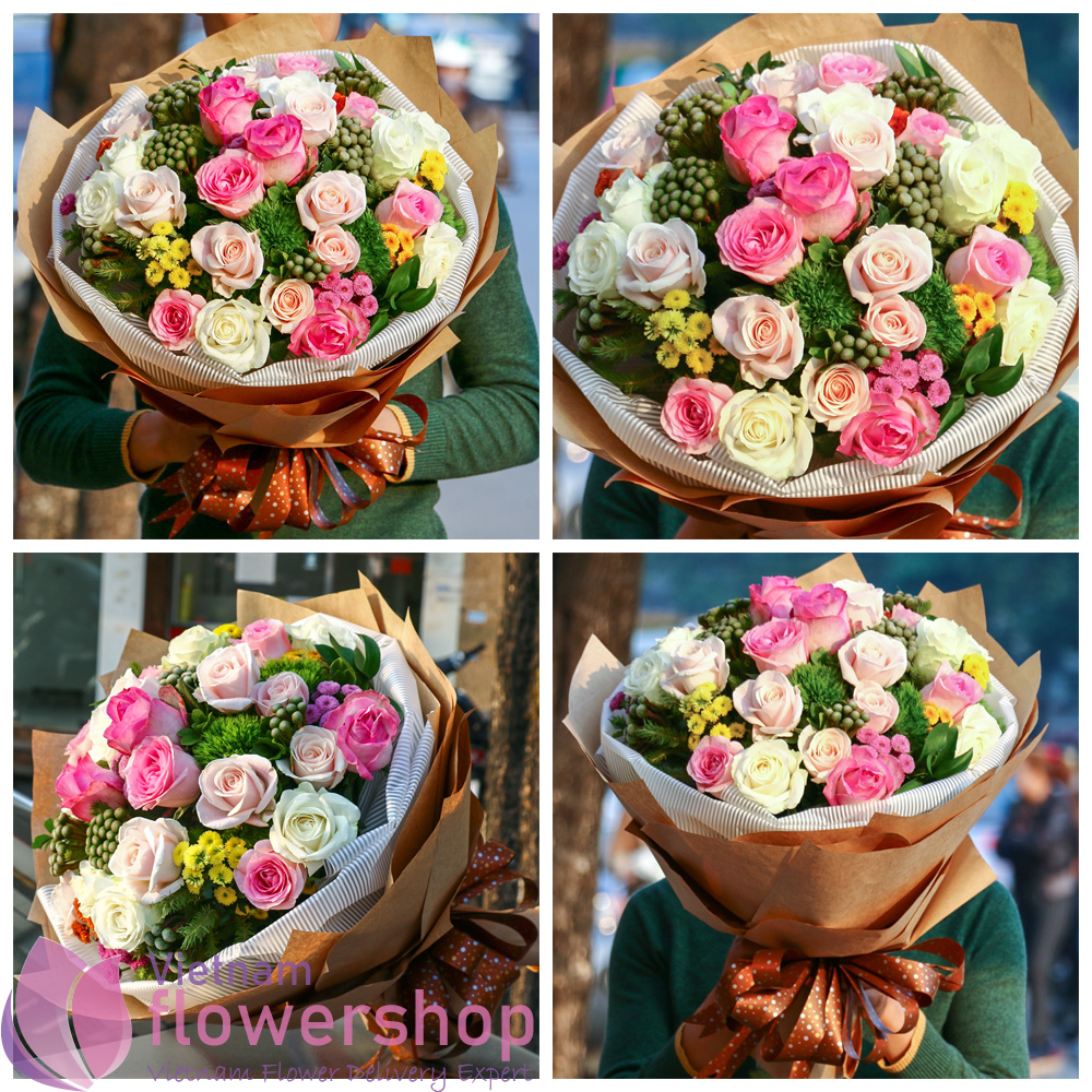 Roses bouquet for birthday online