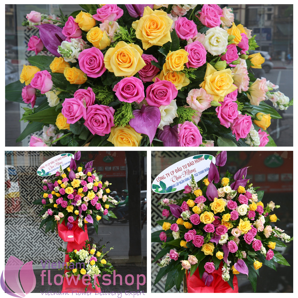 Buy flowers for grand opening to Vietnam