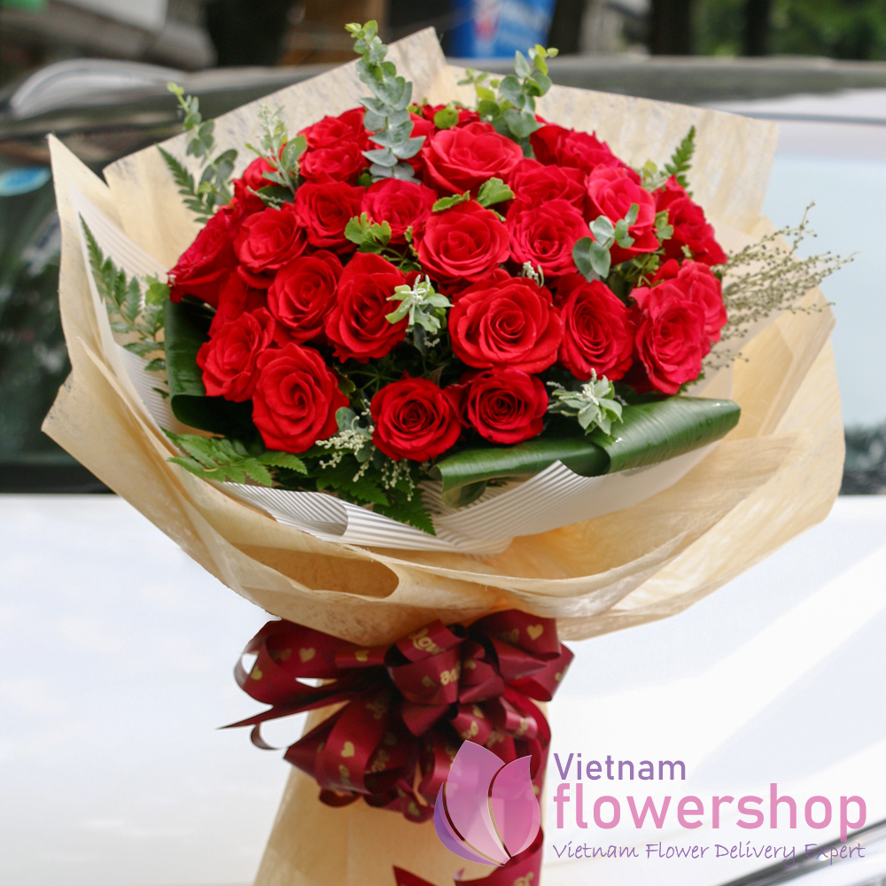 Buy red roses bouquet flower shop online