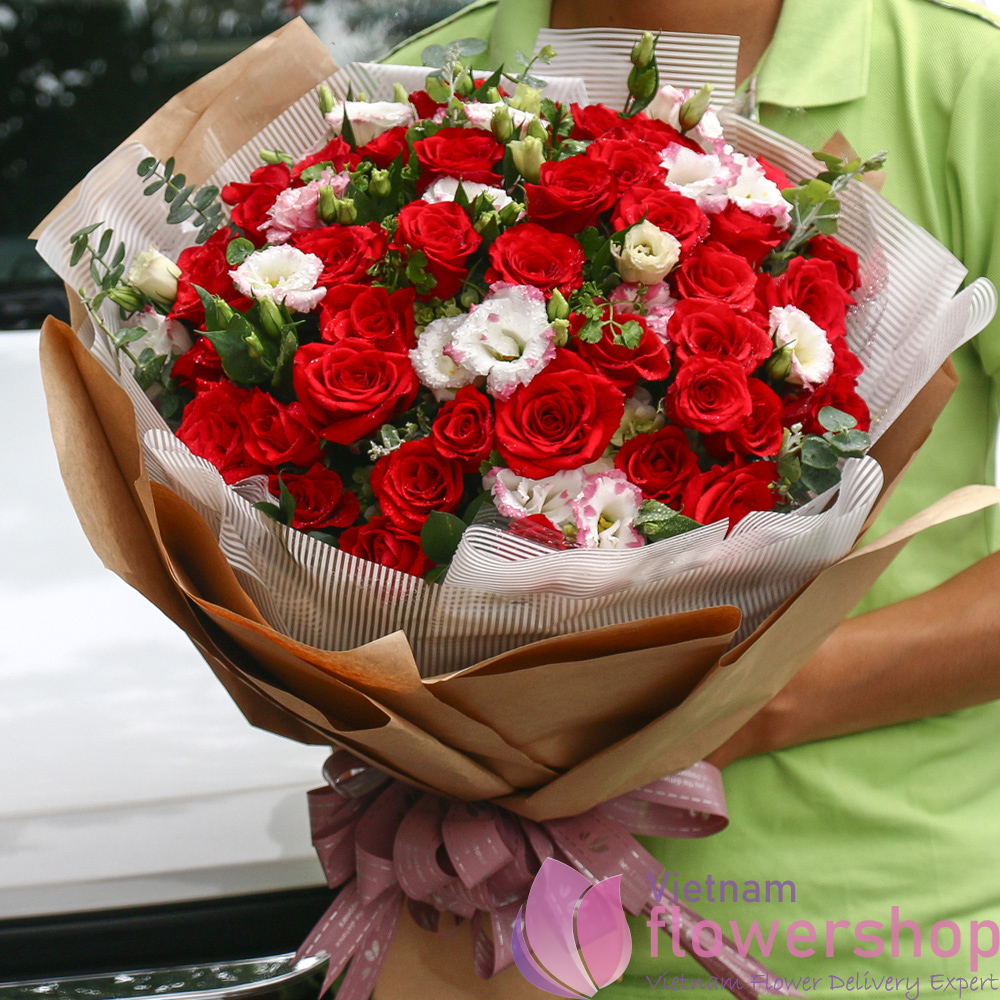 Hanoi love flowers same day delivery