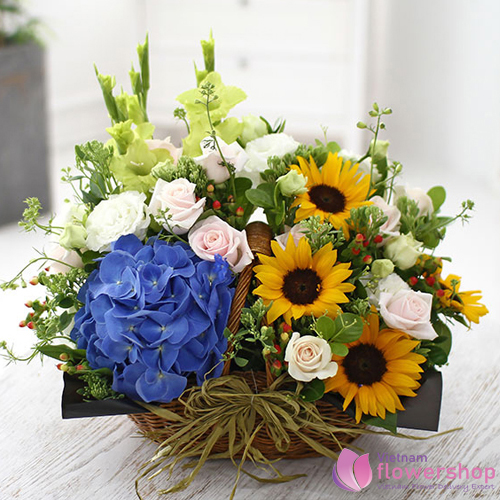 send new home flowers to vietnam