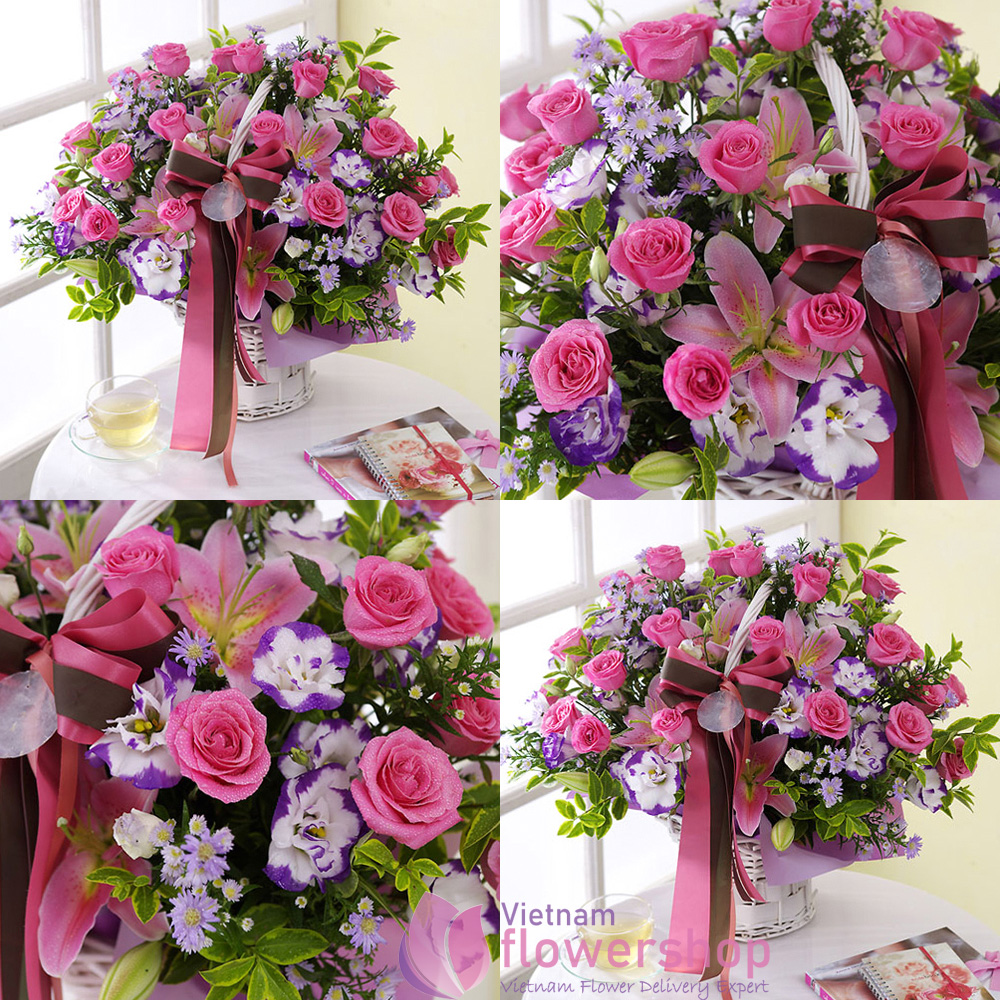 Love basket flowers same day delivery