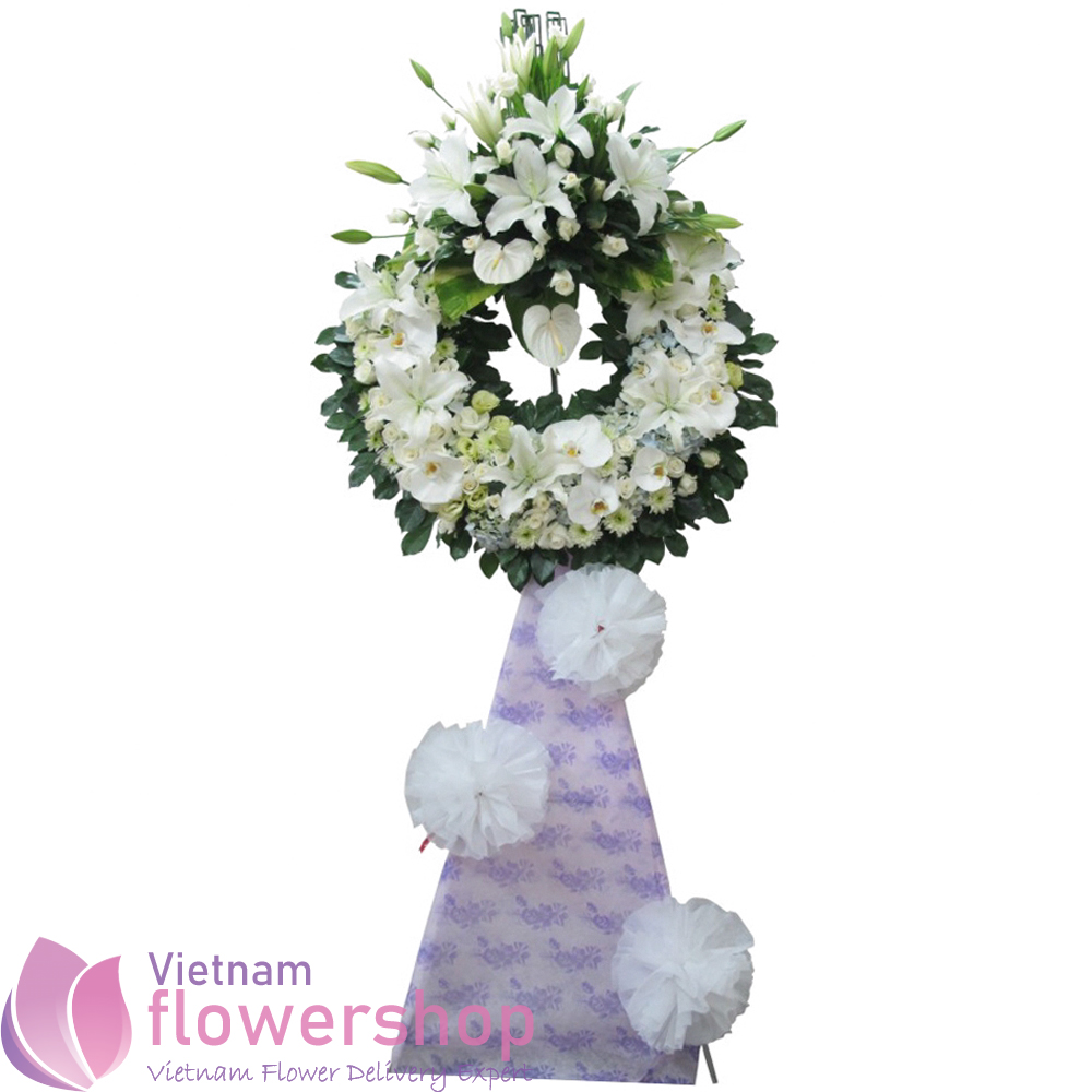 Sympathy flowers free delivery same day in Vietnam