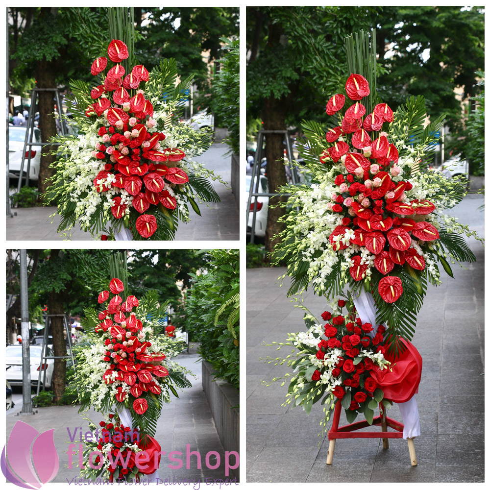 Vietnam congratulation flowers stand delivery